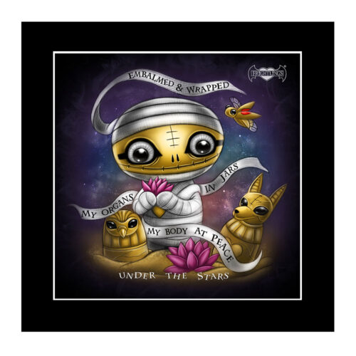 amun-under-the-stars-mounted-print