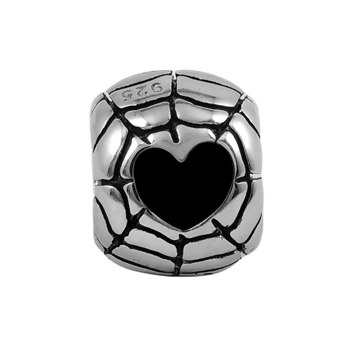 black-heart-web-bead-front-view