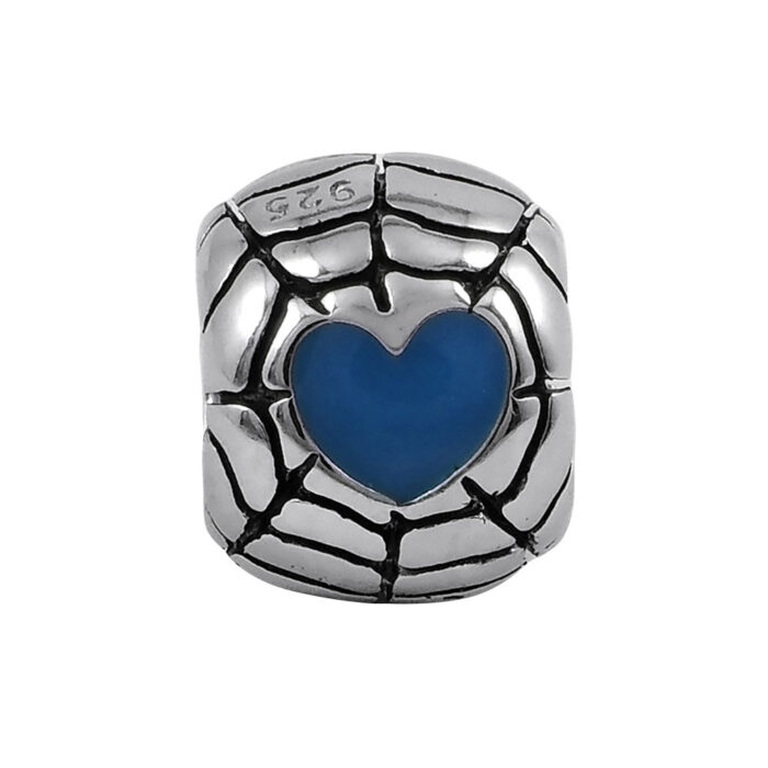 blue-heart-web-bead-front-view