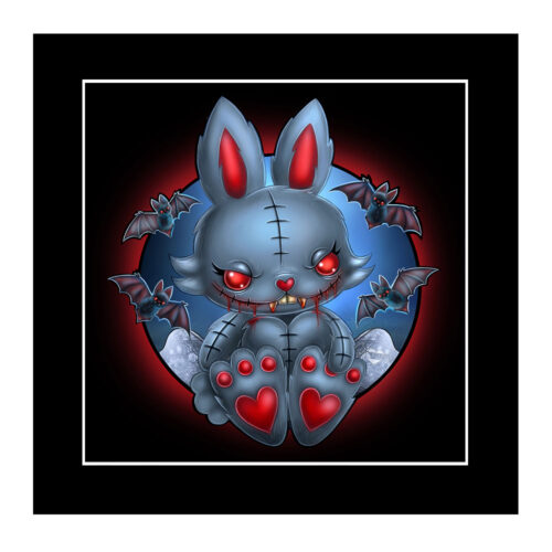 bunny-vamp-mounted-print