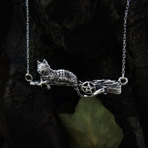 cat-on-witches-broom-with-pentagram-sterling-silver-pendant
