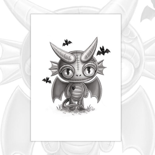 doranth-dragonling-sketch-a5-mini-print