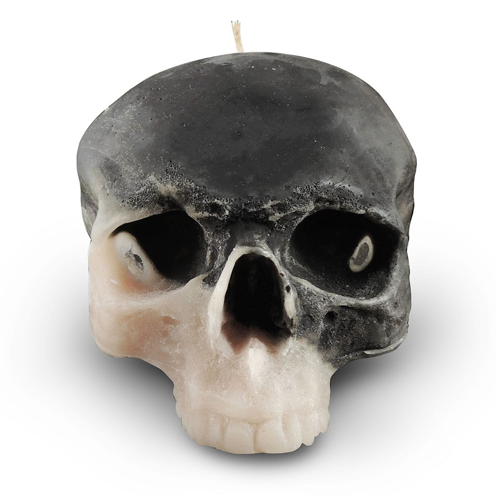 grey-cream-skull-candle