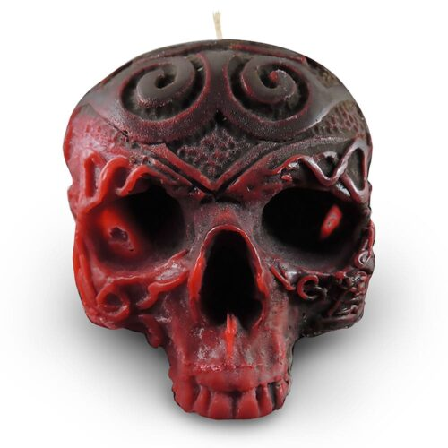 red-and-brown-celtic-viking-skull-candle