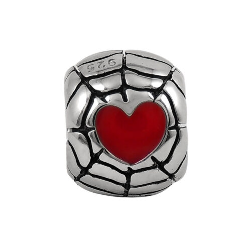 red-heart-web-bead-front-view