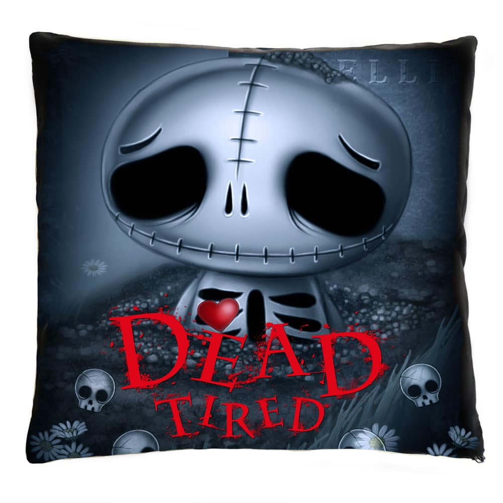 skully-skelling-dead-tired-cushion
