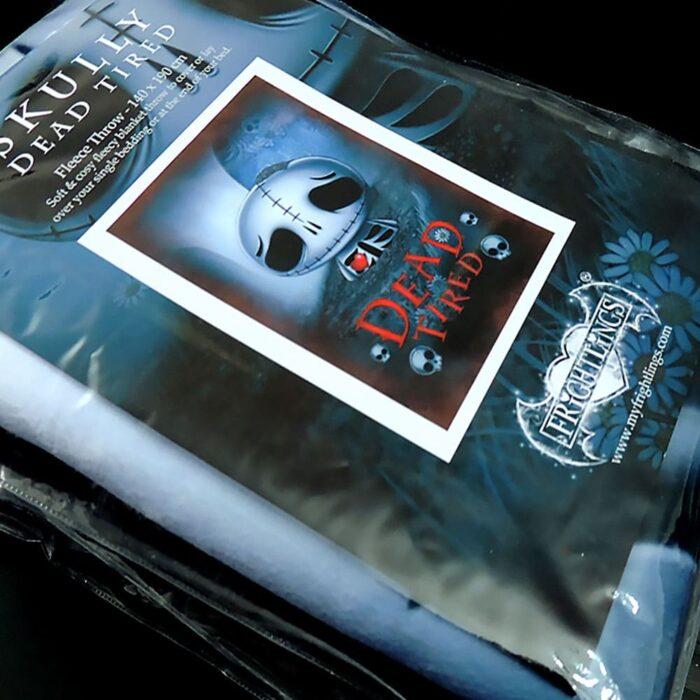 skully-skelling-single-fleece-throw-close-up-packaging