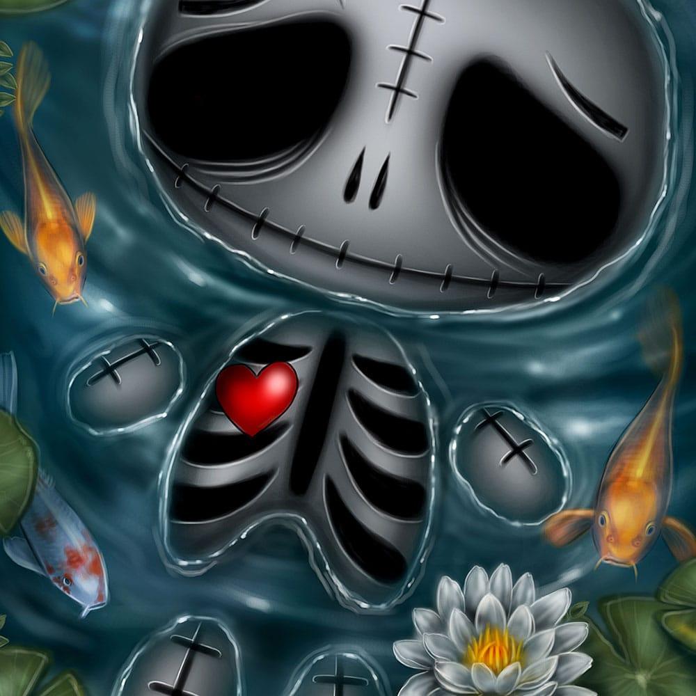 skully-skelling-skinny-dip-print-a4-matt-paper-close-up