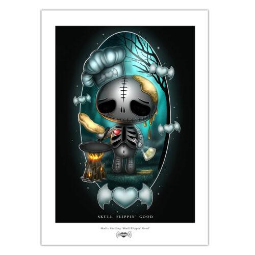 skully-skull-flippin-good--print-a4-matt-paper