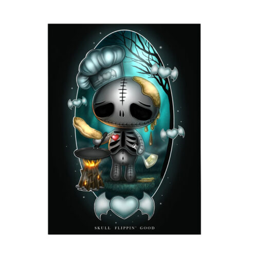 skully-skullflippingoodt-a5-mini-print