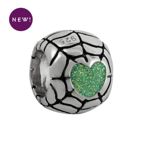 sparkly-iridescent-green-heart-web-bead-new
