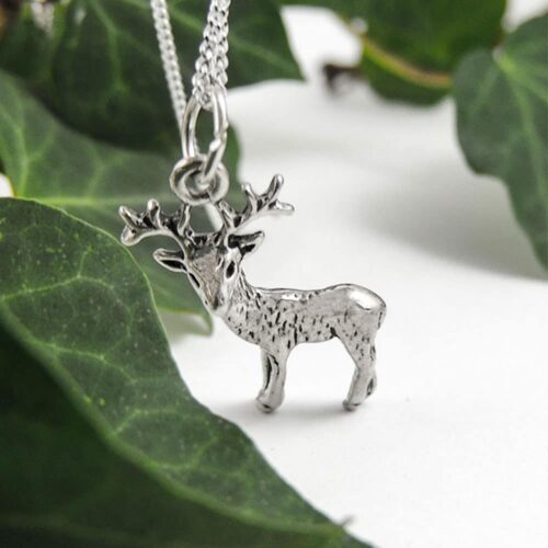 sterling-silver-stag-deer-charm-pendant