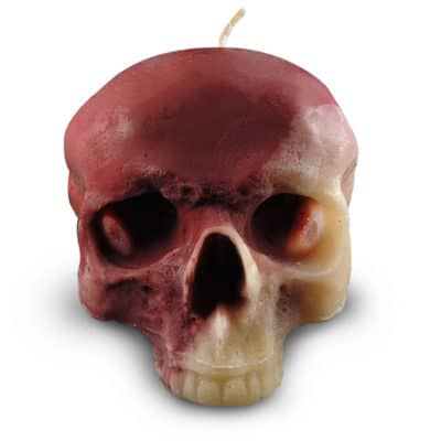 skull-candle-red-and-cream-wax